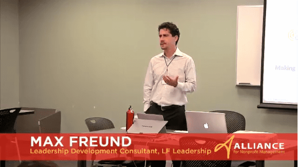 Max Freund Presenting at the 2013 Alliance for Nonprofit Management