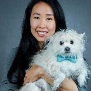 Yuka Ogino holding a Dog