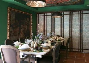Dining Table at Casa Leopoldo Palas de Rei Dining