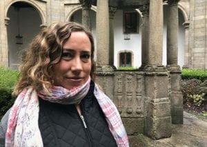 Photo of cynthia standing near pillars
