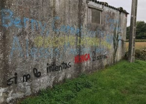 Wall displaying inspirational graffiti